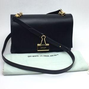 OFF-WHITE Medium Binder Clip Leather Shoulder bag